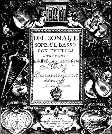 Agazzari frontispiece
