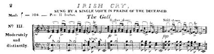 Irish Cry Bunting 1840