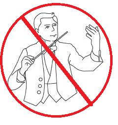 No conducting