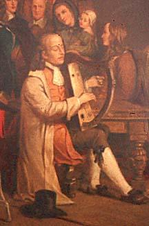 Carolan with small harp