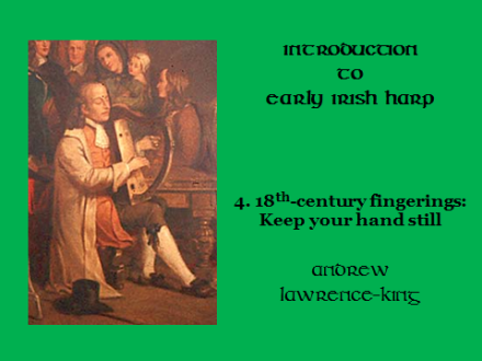 Introduction to Early Irish harp 4 18th-century fingerings
