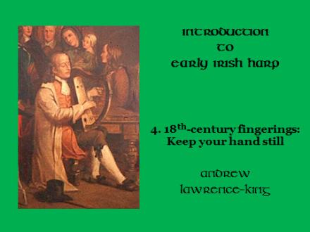 Introduction to Early Irish harp 4 18th-century fingerings