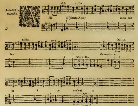 Caccini Nuove Musiche example 2