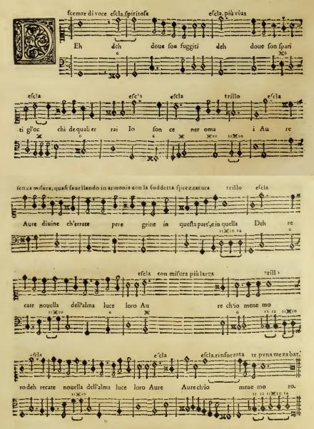 Caccini Nuove Musiche example 3