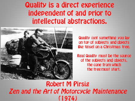 Quality (Zen and the Art of Motorcycle Maintenance)