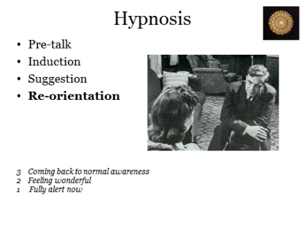 Hypnosis 4: Re-orientation