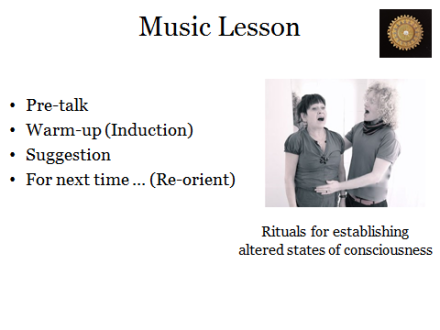 Music Lesson compared to Hypnosis