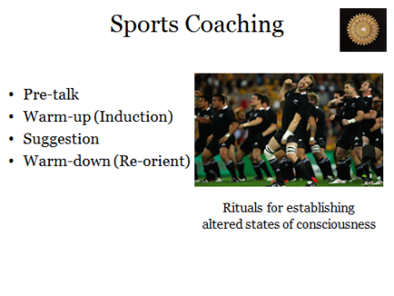 Sports Coaching compared to Hypnosis