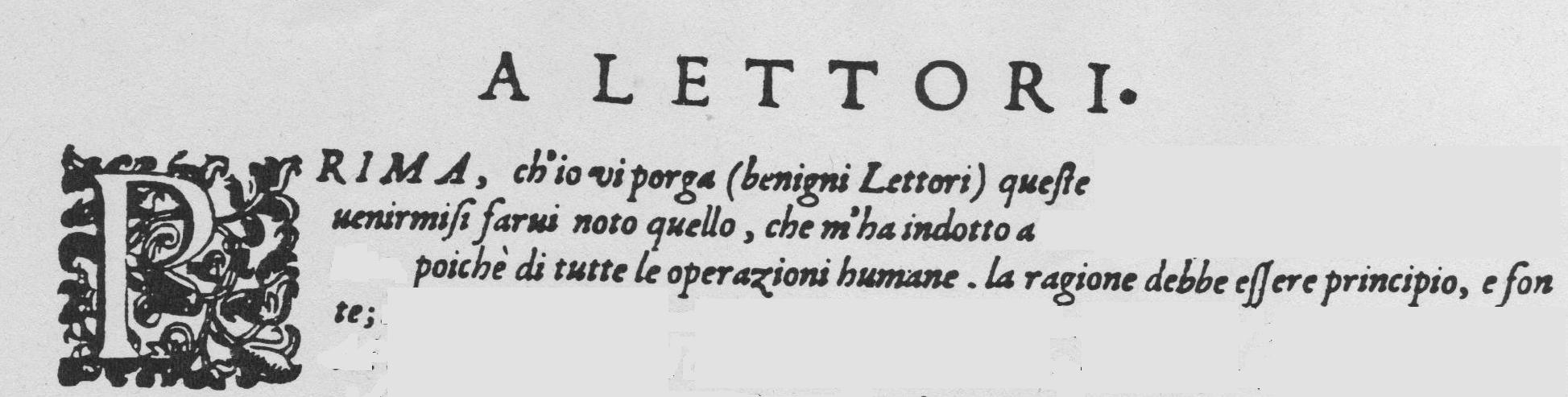 Peri Euridice Preface incipit