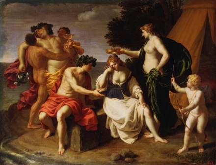 Alessandro Turchi 'Bacchus & Ariadne' (c1630). Historical Action is more than just Baroque Gesture.