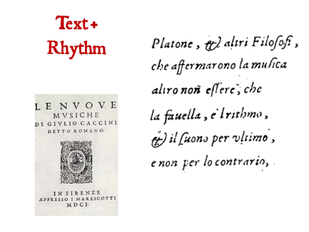 Text and Rhythm