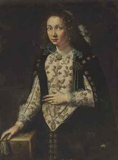 Courtly lady Italian c1600