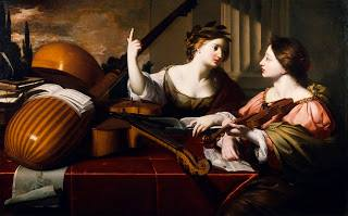 Divine inspiration of Music c1640 Nicolas Régnier