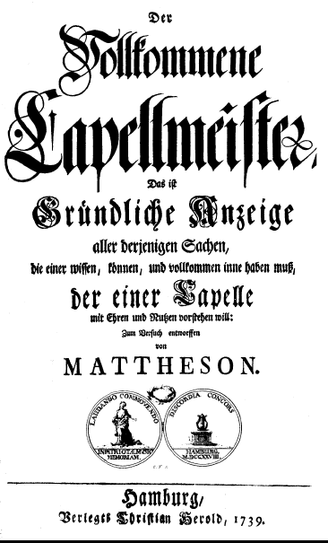 Mattheson title page