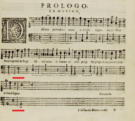 Cadence in La Musica
